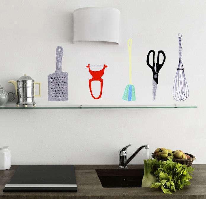 Accessories Whimsical Kitchen Decals portrait 3