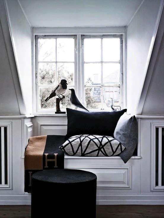 white reading nook hermes remodelista