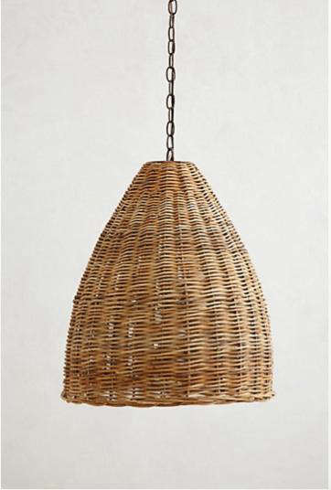 HighLow A Trio of Woven Wicker Pendant Lights portrait 3