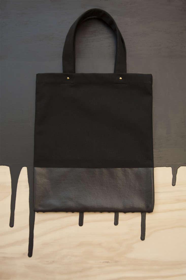 wrkshp dippedbags black tote remodelista market LA 2014