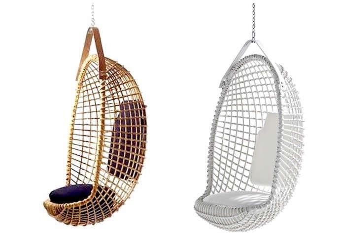 Eureka hanging chair white tan