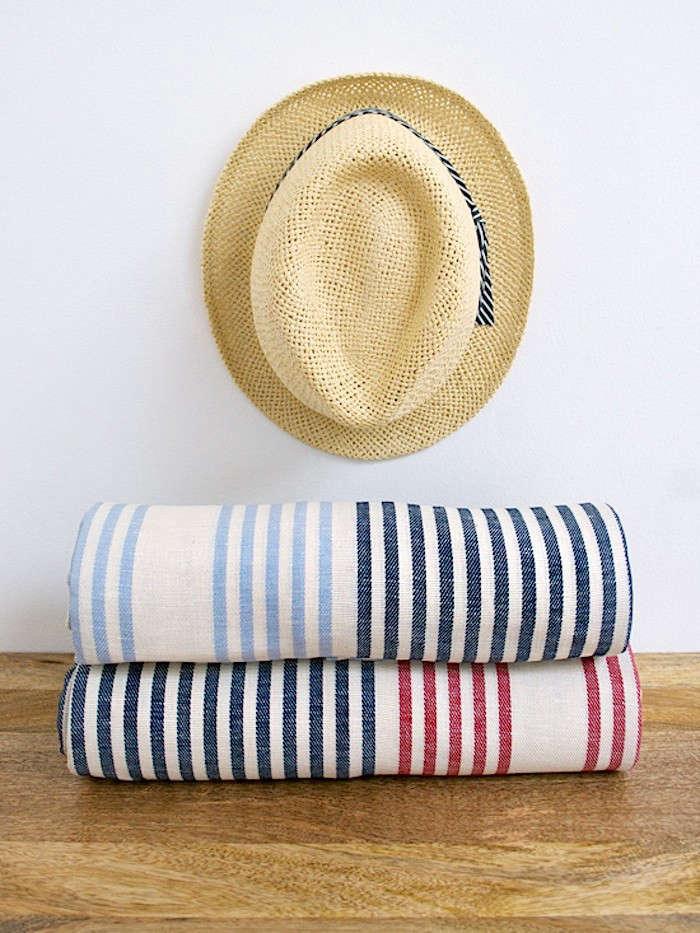 New Domestic Stripe Picnic Blanket Stack
