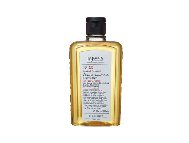Domestic Science 10 Natural Cleaning Solutions for the Bathroom C.O. Bigelow Peach Nut Oil Cleanser