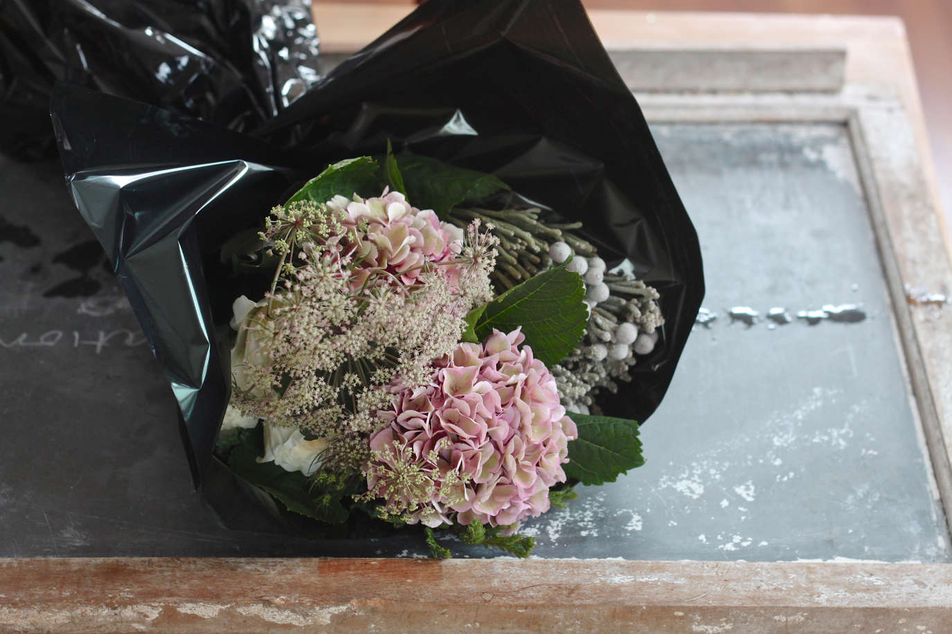 Winter  20  Romance  20  Bouquet  40    20  hydrangea  90  s  20  and  20  chocolate  20  queen  20  annes  20  lace