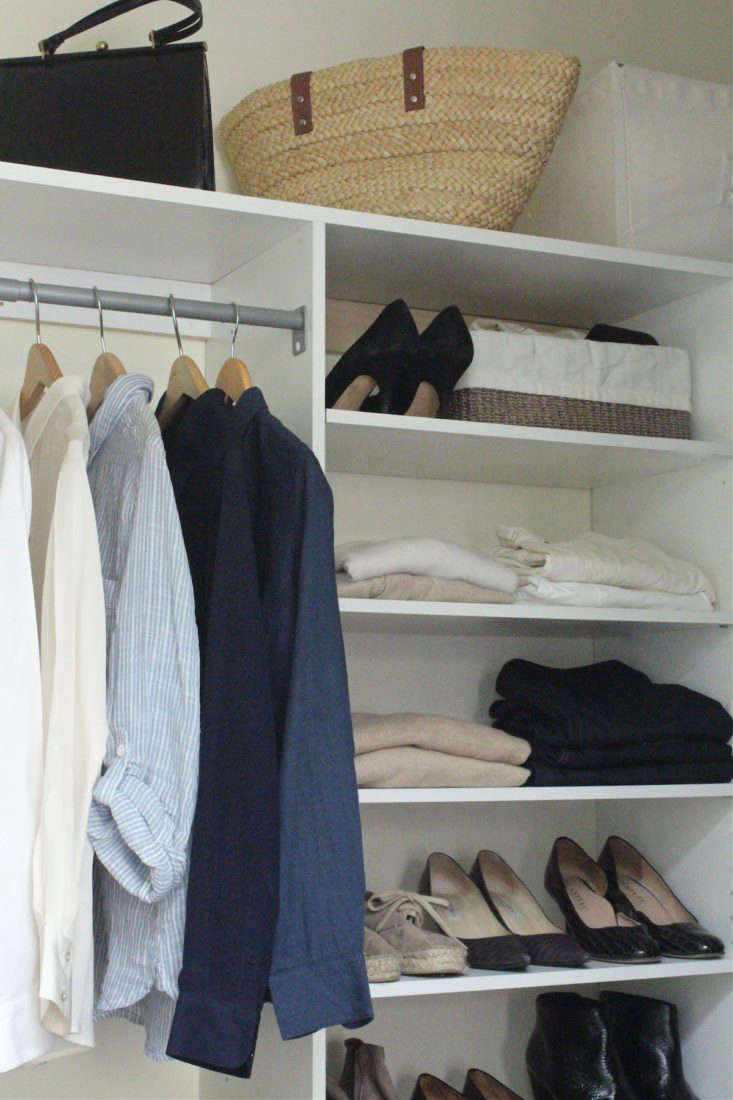 When I cleaned out my closet a month ago, my own pared-down EMW included: jeans (loading=