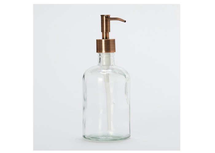 glass soap dispenser copper spout gardenista