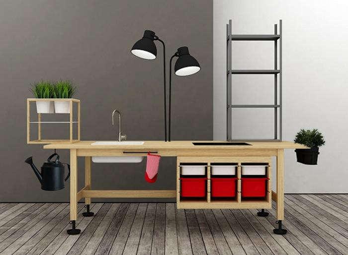 Ikea Ingenuity A TwoinOne Kitchen and Mini Herb Garden portrait 3