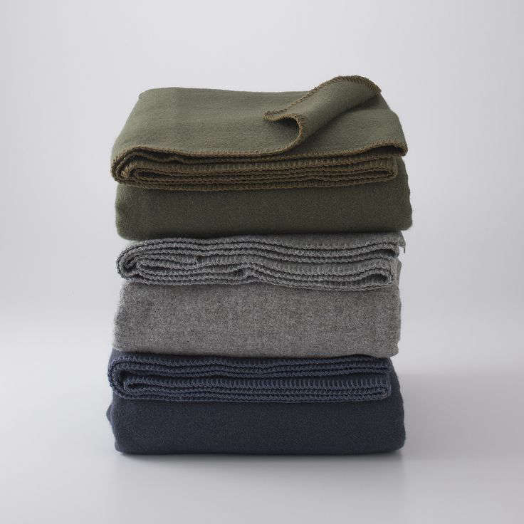 The trusty service blanket, made from wool. (These are Utility Service Blankets from Schoolhouse; see more picks in  Easy Pieces: Camp Blankets.)