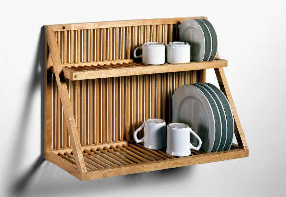 wood plate rack wall mounted 2