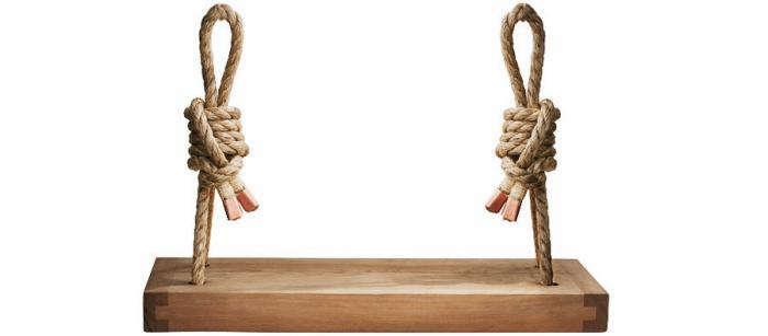 700 ceder rope hanging swing