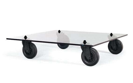 fontana arte coffee table wheels