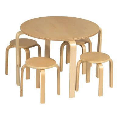 Childrens Rooms Nordic Table and Chairs Set portrait 3
