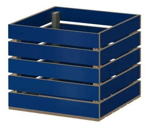 Storage New Ikea PS Blue Storage Crate Bintje Square Blue Storage Crate