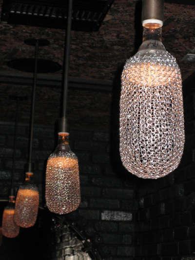 ace hotel bar lights mesh