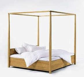 Furniture Modern FourPoster Bed Frames portrait 7