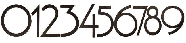 Hardware Atlas Modern House Numbers portrait 4