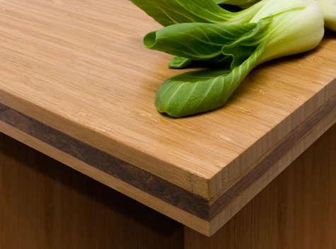 Kitchen Teragren Bamboo Countertops amp Cabinets portrait 3