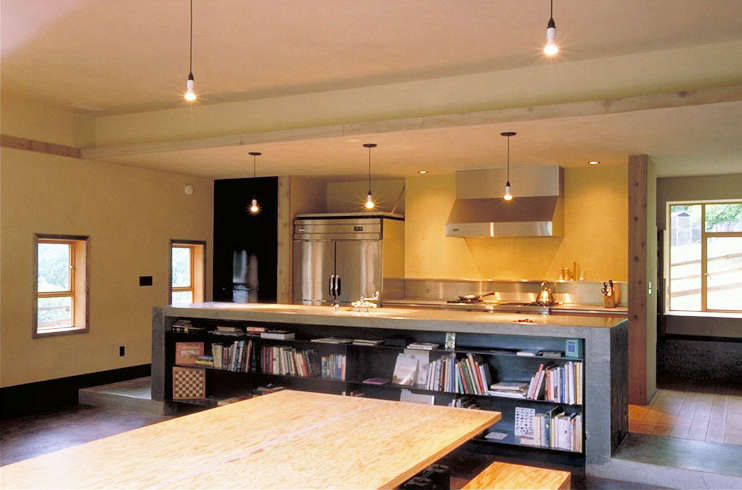 barn conversion dining kitchen