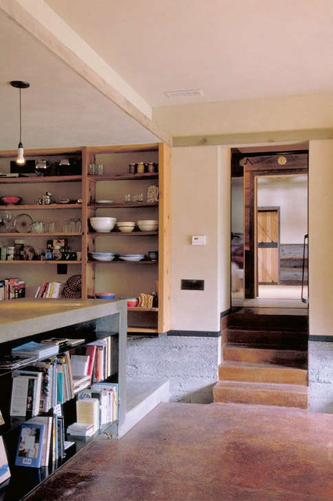 barn conversion kitchen to hall