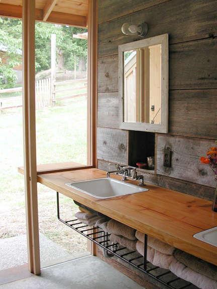 barn conversion outdoor bath