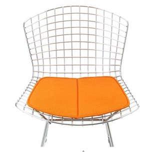 bertoia side chair orange