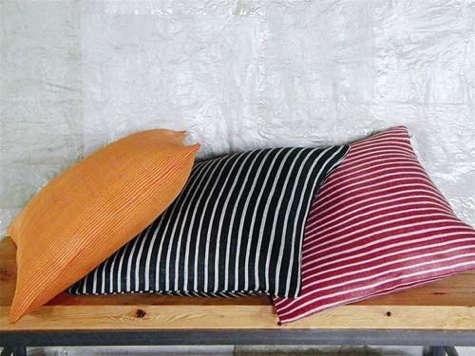 bitters striped abaca cushions