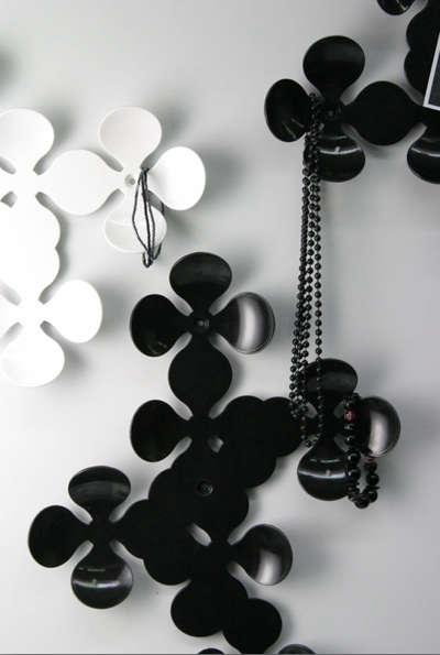 black and white daisy hooks