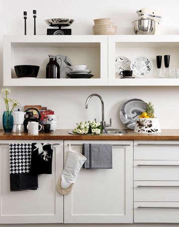 black white kitchen katie sellers stylist