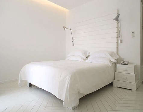 casa angelina all white bedroom