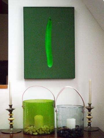 casa midi green votive candle
