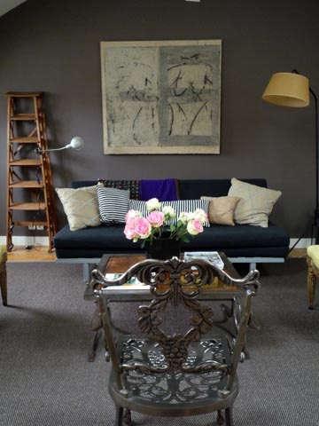 casa midi living room iron chair