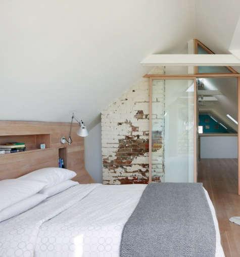 clayton street bedroom exposed brick