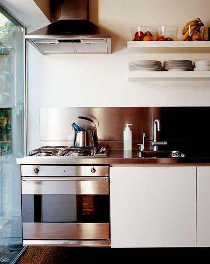Kitchen Stainless Steel Backsplashes portrait 3