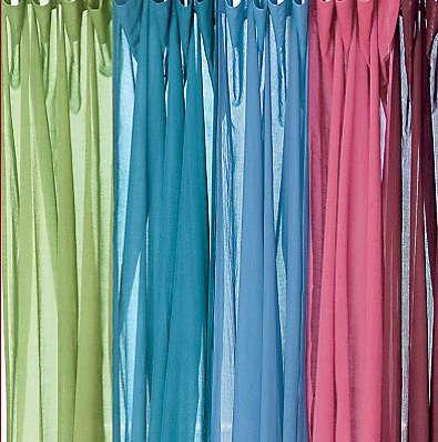 cotton voile pink blue curtains
