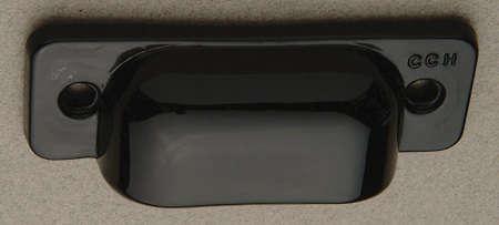 crown city black glass bin pull