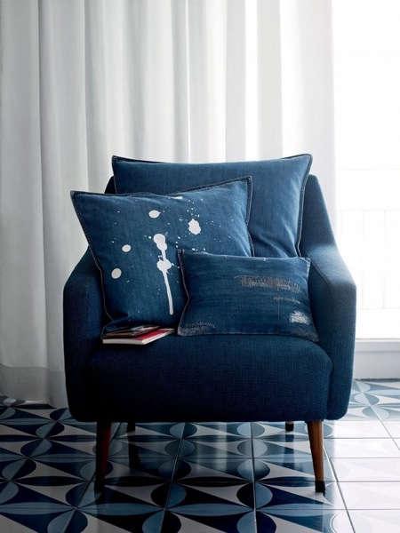 Childrens Rooms Distressed Denim Pillows portrait 2