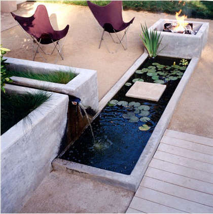 dry design water feature