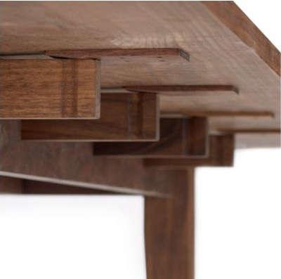 dwr harvest table dropleaf detail