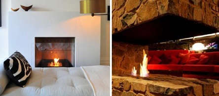 ecosmart fire in bedroom and lodge