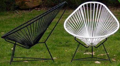 egg chairs vinyl cording