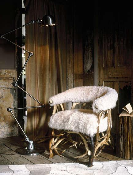 Furniture SheepskinCovered Seating portrait 3