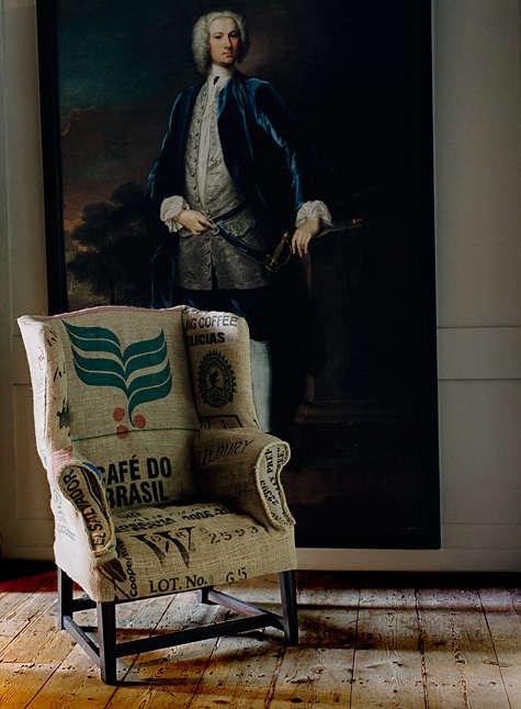 Furniture Graphic Grain Sack Upholstery  portrait 3