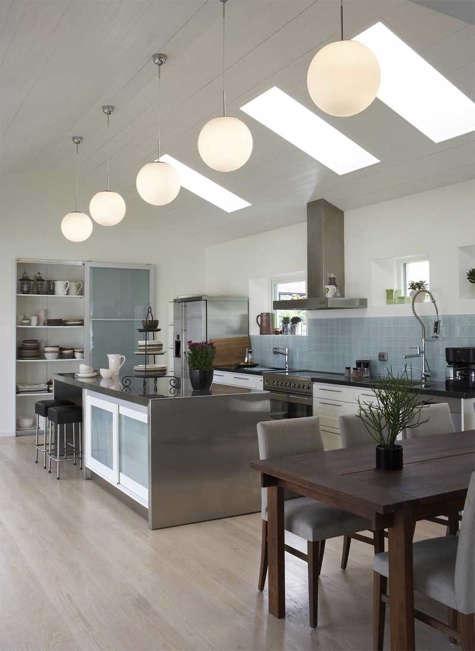 five globe light kitchen
