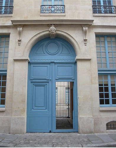 flickr blue door paris