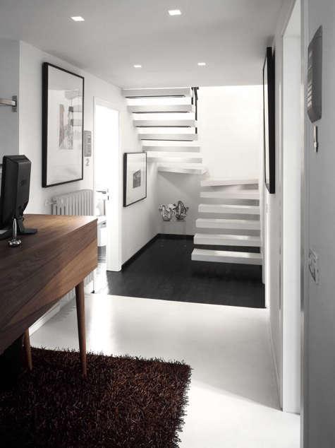 floroom stairs brown rug