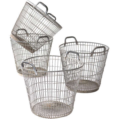 french oyster baskets red ticking
