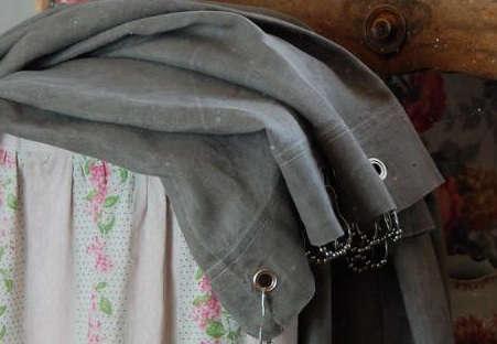gray couleur chanvre curtain