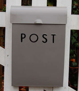Outdoors Gray Post Box portrait 3