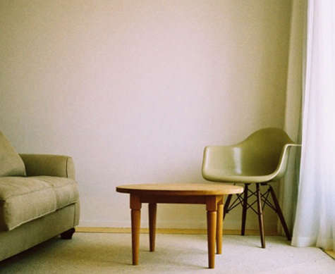 hotel aire eames chair with wood base