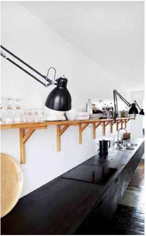 hotel du nord black and white kitchen
